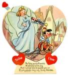 Vintage Blue Fairy from Pinocchio Mechanical Valentine
