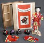 Click here to enlarge image and see more about item DOLL16: Vintage Japanese Katsuraningyo doll