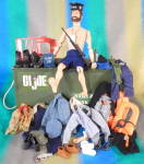 Click here to enlarge image and see more about item DOLL97: Vintage GI Joe Man of Action Foot Locker & Accessories