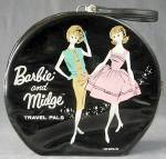 Click to view larger image of Barbie and Midge Black Round Case 1963 (Image1)