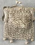 Click here to enlarge image and see more about item DOLLGEN49: Vintage Tiny Metal Mesh Purse