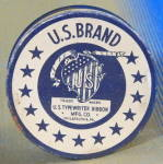 Click here to enlarge image and see more about item ADTIN247: Vintage U.S. Brand Typewriter Ribbon Tin