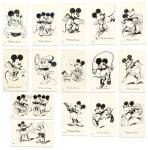 Click to view larger image of Vintage1930s  Mickey Mouse Foreign Cards (Image3)
