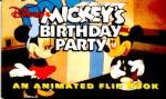 Disney's Mickey's Birthday Party An Animated Flip Book