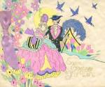 Click here to enlarge image and see more about item EVCP19: Vintage Easter Greetings to My Wife