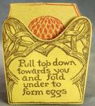 Click here to enlarge image and see more about item EVEG18: Vintage 1925 Honeycomb Easter Egg Party Favor