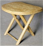 Click here to enlarge image and see more about item FAC4: Child's Folding Camp Stool Vintage