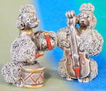 Vintage Spaghetti Poodles Playing Instruments