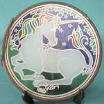 "Click to view larger image of Vintage Unicorn ""Stained Glass"" (Image2)"