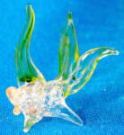Vintage Clear Green Glass Fish