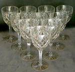 Click to view larger image of Vintage Cut Glass Set of 10 Goblets (Image2)