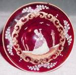 Click here to enlarge image and see more about item GLRUB2: Vintage Ruby Red Enamel Dish