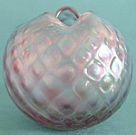 Click here to enlarge image and see more about item GVAGV7: Blown Glass Iridescent Rose Bowl