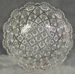 Click here to enlarge image and see more about item GVPRES5: Vintage Pressed Glass Bowl