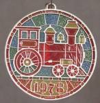 Click here to enlarge image and see more about item HALG13: Locomotive Tiffany Classics Hallmark Ornament
