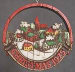 Click here to enlarge image and see more about item HALG17: Hallmark 1975 Peace on Earth Christmas Ornament