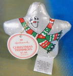 Click here to enlarge image and see more about item HALG46: Hallmark 1982 Metallic Cloth Star Ornament