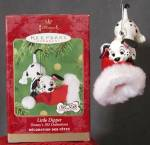 Click here to enlarge image and see more about item HALLD6: Disney 102 Dalmatians Little Dipper Hallmark Ornament