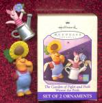 Click here to enlarge image and see more about item HALMIN22: Hallmark The Garden of Piglet and Pooh Ornaments