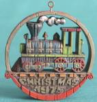 Click here to enlarge image and see more about item HALTRAN14: Nostalgic Locomotive Hallmark Ornament