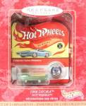 Click here to enlarge image and see more about item HALTRAN17: Hallmark Hot Wheels 1968 Green Deora