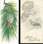 Click to view larger image of Vintage Reindeer & Kitten & Glittered Cards Srt Of 3 (Image2)