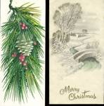 Click here to enlarge image and see more about item HCCP5: Vintage Glittered Christmas Cards