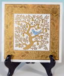 Click here to enlarge image and see more about item HCG1323: Pilkington Art Tile Trivet The 1st Day Of Christmas
