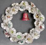 Vintage Aluminum & Foil Wreath with Bell