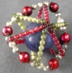 Click here to enlarge image and see more about item HCO39: Vintage Beaded Christmas Ornament
