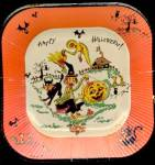 Click here to enlarge image and see more about item HD25: Vintage Paper Plates Everything Hallloween On Them