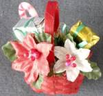 Hallmark Poinsettia Flower Basket Pin
