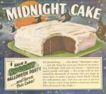 Click to view larger image of Halloween Party Ideas & Recipes Vintage Midnight Cake  (Image2)