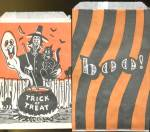 Click here to enlarge image and see more about item HPA59: Vintage Halloween Treat Bags Set Of 6