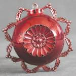 Click here to enlarge image and see more about item HSCPL28: Vintage Red Plastic Christmas Ornament