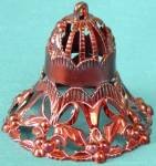 Vintage Red Metallic Plastic Bell Christmas Ornament
