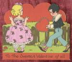 Click here to enlarge image and see more about item HSVAL2: To The Sweetest Valentine of All  & Cat in Roses
