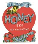 Vintage Valentine Card: Bee on Heart