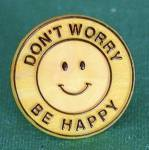 Click here to enlarge image and see more about item JCB51: Vintage Yellow Plastic Smiley Ring