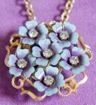 Avon Flower Pin and Pendant Combo