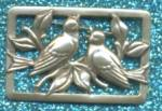 Click here to enlarge image and see more about item JFP11: Vintage Song Birds Sterling Silver Pin