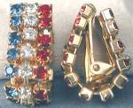 Red White and Blue Rhinestone Flag Earrings
