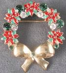 Jeweled & Enamel Wreath Pin