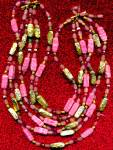 Vintage 6 Strand Glass Beaded Necklace