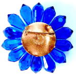 Click to view larger image of Vintage Blue Flower Pin Western Germany (Image2)