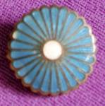 Antique Tiny Enamel Flower Pin