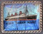 Click here to enlarge image and see more about item JV110: Vintage R.M.S.Queen Mary Souvenir Sterling Pin