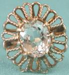Click to view larger image of Vintage 10K Yellow Gold Crystal Quartz Ring (Image3)