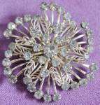 Click here to enlarge image and see more about item JVC27: Vintage Blue Rhinestone Pin