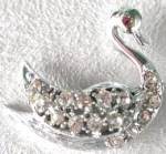 Vintage Rhinestone Swan Pin